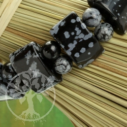 Schneeflockenobsidian Armband Steg
