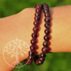 Garnet Gemstone Bracelet 6mm