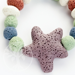 Lava bracelet starfish with colorful beads