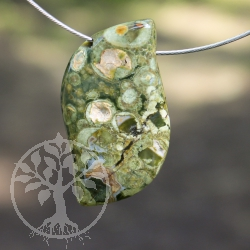 Rhyolite pendant Jazz shape gemstone