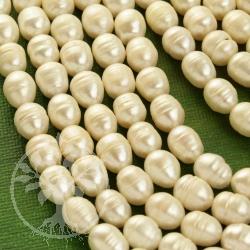 Zuchtperlen oval 10mm/ca.39cm Echte Perlen /Süßwasserperlen Naturform