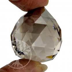 Feng Shui Kristall Kristallkugel 30 mm Satin dunkel