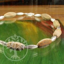 Landscape jasper necklace long lens unique