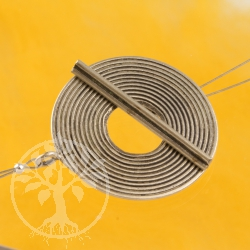 Stab Verschluss Zentrum 33mm Ring 34mm Stab Silber 925