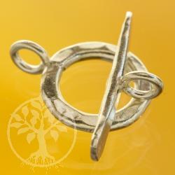 Knebelverschluss rund gehämmert 13mm Ring 20mm Steg