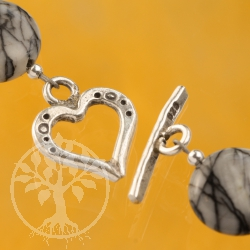 Toggle Clasp Heart Sterling Silver 17mm