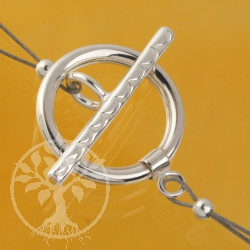 Toggle Clasp Sterling Silver 15mm Ring  21mm Toogle
