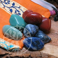 Water-Set 3 - Red Jasper, Aventurine, Sodalite Tumbled Stones 250 gr.