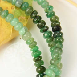 Emerald Gemstone A Necklace Button 4.5-6.5mm Button Beads