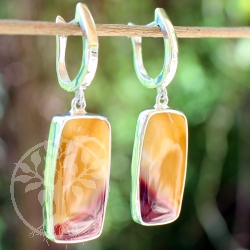 Mookaite sterling sillver earrings rectangle