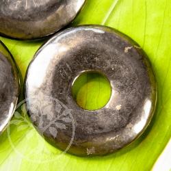 Schungit Donut Shungit Scheibeanhänger 40mm