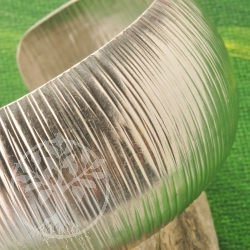 Silber Armreif quer Struktur 925er Silber