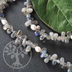 Labradorite Pearl Necklace Drop