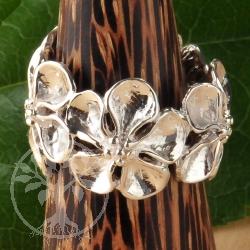 Silberring Blumen