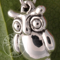 Owl Sterling Silver 25/21mm