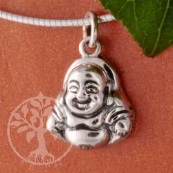 Buddha Laughing 925 Silver 19/12mm