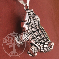 Crocodil Pendant movable Sterling Silver 32mm
