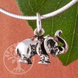 Kleiner Elefant Silberanhänger 15mm