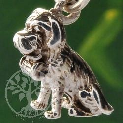 Bernhardiner Silber Anhänger Hund 19mm 925er