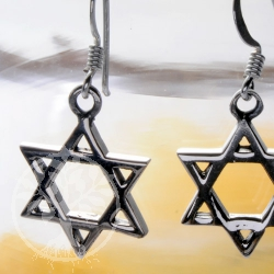 Star of David Hexagram silver925 earrings