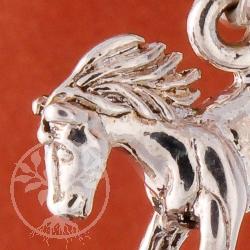Horse Pendant Silver Storm