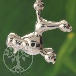 Pudel Silber Anhänger Hund 925er