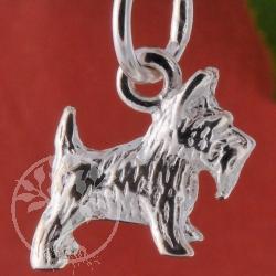 Schnauzer Silber Anhänger Hund 925er