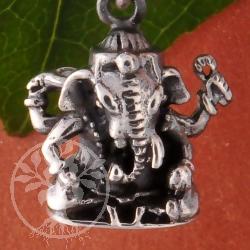 Ganesha Anhänger 925er Silberanhänger  18mm Ganeshaanhänger