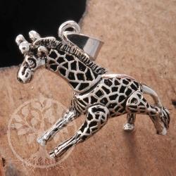 Giraffe Anhänger 35mm schwer massiv Silber 925