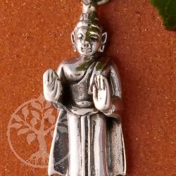 Siddhartha Anhänger stehend Handfläche 25 mm 925 Silber