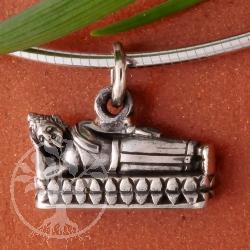 Gautama Silber925 Anhänger liegend 15 mm
