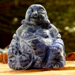Sodalite Buddha Engraving 40mm Gemstone Budda