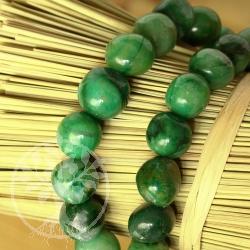 Prasem Armband Afrikanische Jade Trommelstein Perlen 8-10mm