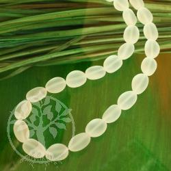 Bergkristall Perlen Olive Mattiert 15 mm