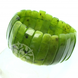 Nephrite bracelet big 35 mm