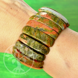 Unakite bracelet big 35 mm