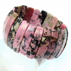 Rhodonite bracelet Extra Large 35 mm
