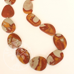 Noreena Jaspis Perlen flache Perlen Halskette matt ca. 45cm