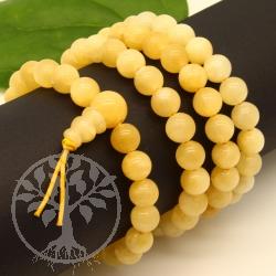 Orancencalcit Kraftarmband Buddhabeads ca 8mm Perlen mit  Zauberknoten
