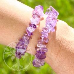 Amethyst Ametrine AA Bracelet in fine gemstone quality.