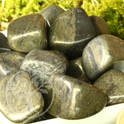 Pyrite Tumbled Stones with Corners 200g
