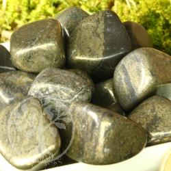 Pyrit Trommelsteine 200g Pyrit Steine mit abgerundete Ecken 20/35mm
