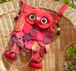 Eulen Tasche Rot, Eulentasche mit Beine, Umhängetasche Eule