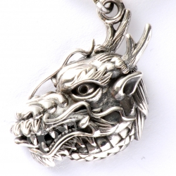 Dragon Pendant in Sterling Silver Loop