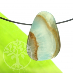 Hemimorphite Pendant with Brown Matrix