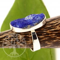 Lapislazuli Ring Silber 925 Grösse 57 Stein unpoliert
