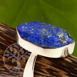 Lapislazuli Ring Silber 925 Grösse 55 Stein unpoliert