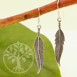 Feather Earrings Pendant Sterlingsilver