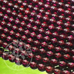 Garnet Loose Gemstone Beads 7mm A Quality About 40cm