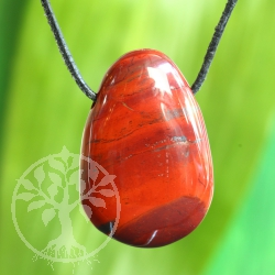 Red Jasper Pendant with Whole 35/40mm
